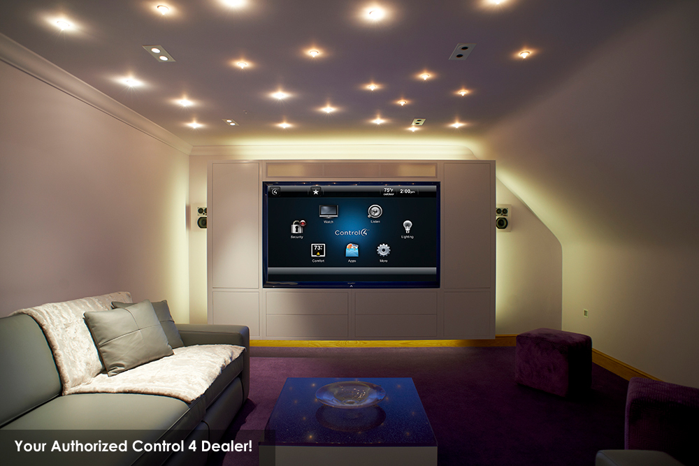 Custom Home Theater Room With Home Media System Installation Kingwood